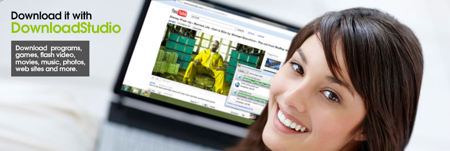 DownloadStudio - Download programs, games, flash video, movies, music, photos, web sites and more